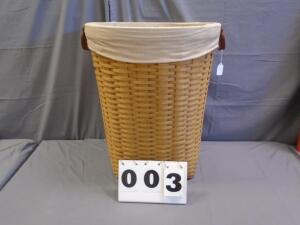 2004 XL Oval Waste Basket with liner & protector