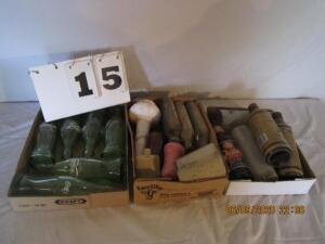Lot of 3 flats of misc. bottles